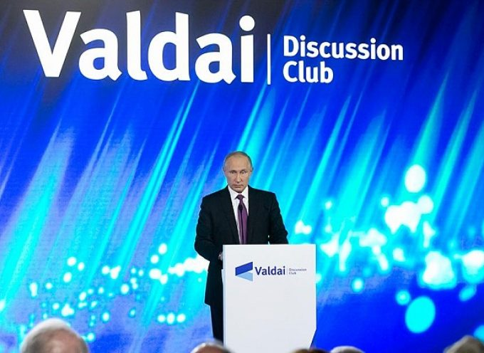 L'intervento di Vladimir Putin al Forum Valdai 2017