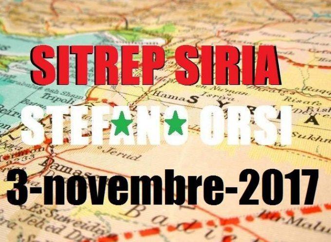 Situazione operativa sui fronti siriani del 3-11-2017