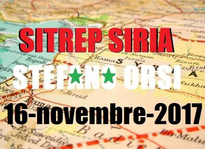 Situazione operativa sui fronti siriani del 16-11-2017