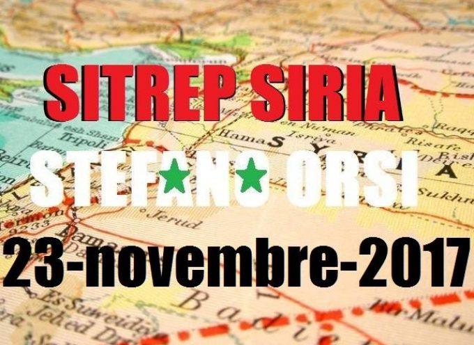 Situazione operativa sui fronti siriani al 23-11-2017