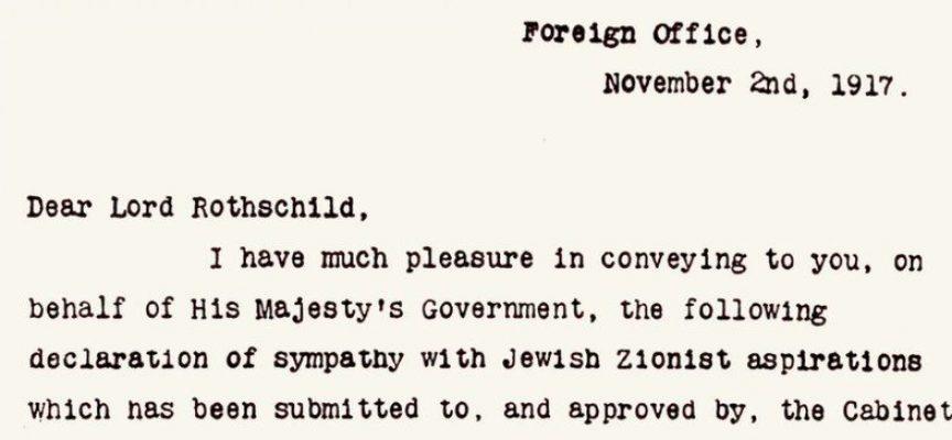 Cento anni dalla Dichiarazione Balfour