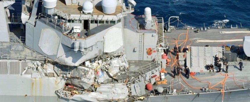 """La 7a Flotta USA: """"Mamma, chiama il Pentagono, siamo in avaria!"""" – 'Scemo & più scemo' sul cacciatorpediniere americano Fitzgerald"""