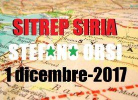 Situazione operativa sui fronti siriani del 1-12-2017