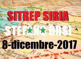 Situazione operativa sui fronti siriani del 8-12-2017