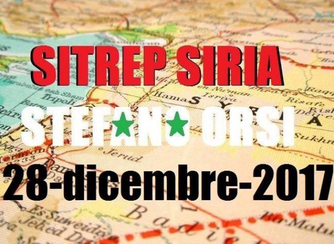 Situazione operativa sui fronti siriani del 28-12-2017