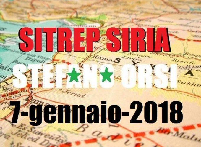 Situazione operativa sui fronti siriani del 7-1-2018