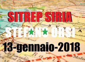 Situazione operativa sui fronti siriani del 13-1-2018