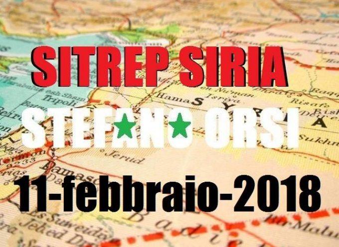 Situazione operativa sui fronti siriani al 11-2-2018