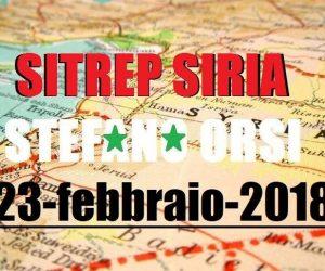 Situazione operativa sui fronti siriani del 23-2-2018