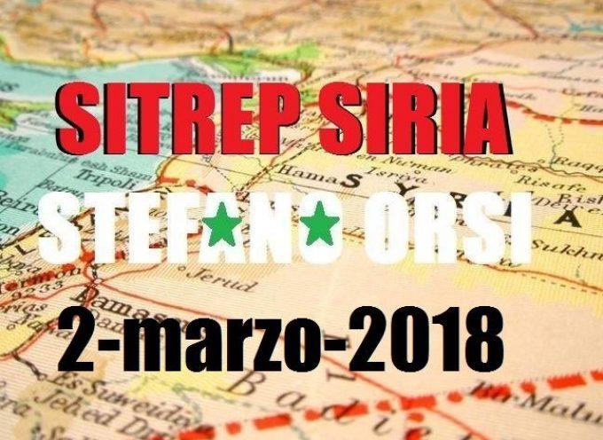 Situazione operativa sui fronti siriani del 2-3-2018