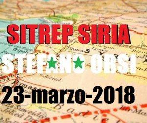 Situazione operativa sui fronti siriani al 22-3-2018