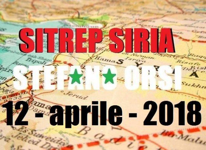 Situazione operativa sui fronti siriani al 12-4-2018