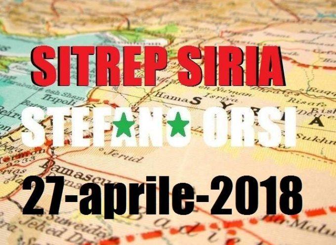 Situazione operativa sui fronti siriani al 27-4-2018