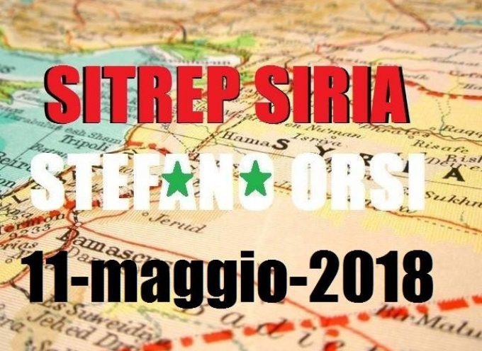 Situazione operativa sui fronti siriani del 11-5-2018