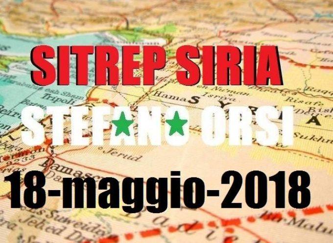 Situazione operativa sui fronti siriani del 18-5-2018