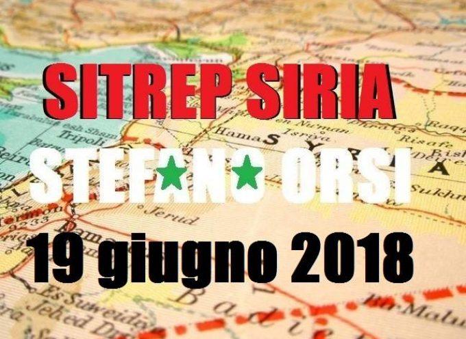 Situazione operativa sui fronti siriani del 19-06-2018
