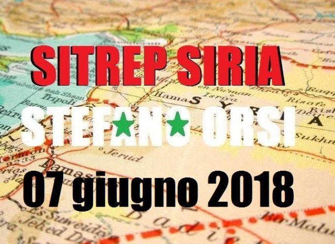 Situazione operativa sui fronti siriani del 7-6-2018
