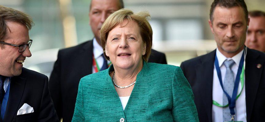 La panchina rovente della Merkel