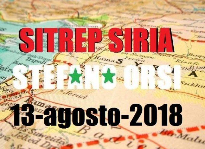 Situazione operativa sui fronti siriani del 13-8-2018