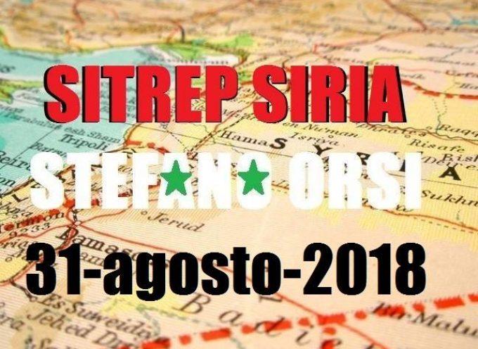 Situazione operativa sui fronti siriani del 31-8-2018