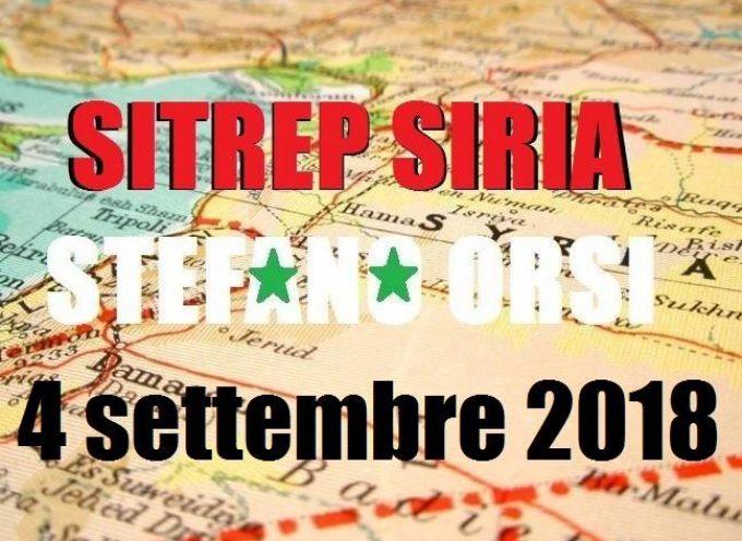 Situazione operativa sui fronti siriani al 4-9-2018