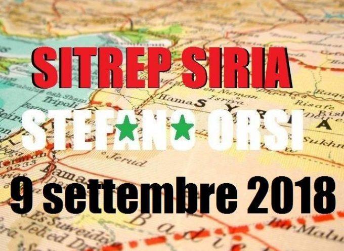 Situazione operativa  sui fronti siriani al 9-9-2018