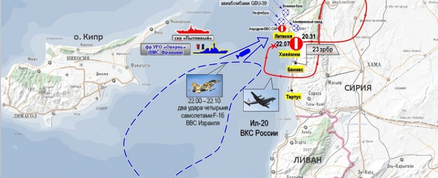 La Russia accusa Israele per l'abbattimento del suo aereo per la guerra elettronica