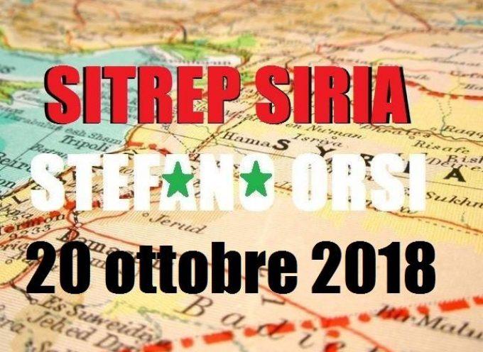 Situazione operativa in Siria al 20-10-2018
