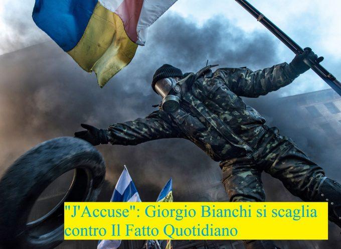 """Il """"J'accuse"""" di Giorgio Bianchi rivolto al direttore del Fatto Quotidiano Marco Travaglio"""