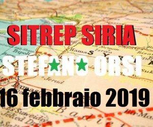Situazione sui fronti siriani al 16-2-2019