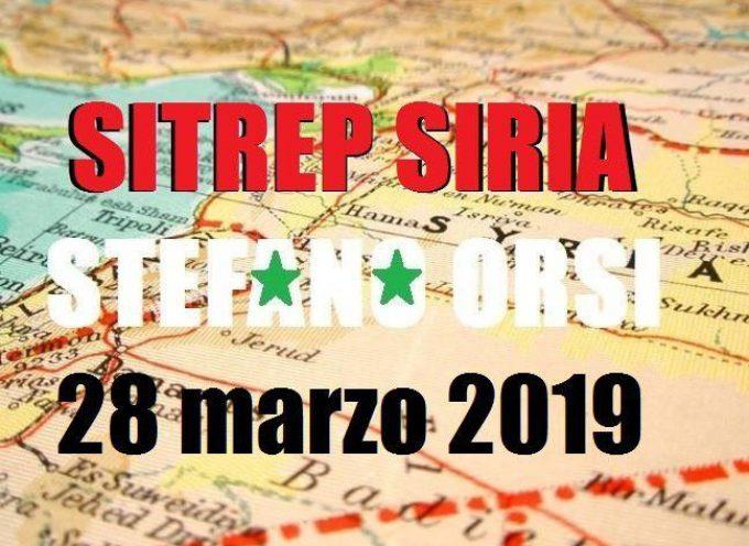Situazione operativa sui fronti siriani del 28-3-2019