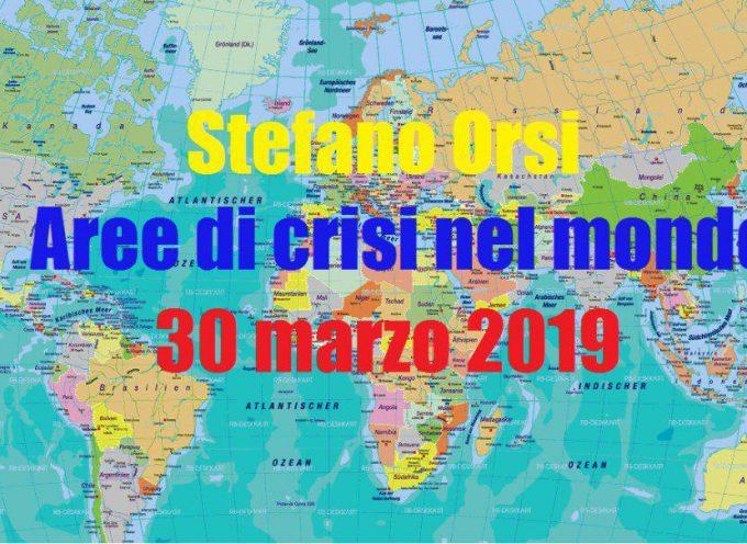Aree di crisi nel mondo del 29-3-2019