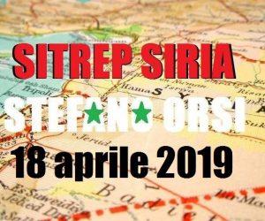 Situazione operativa sui fronti siriani del 18-4-2019