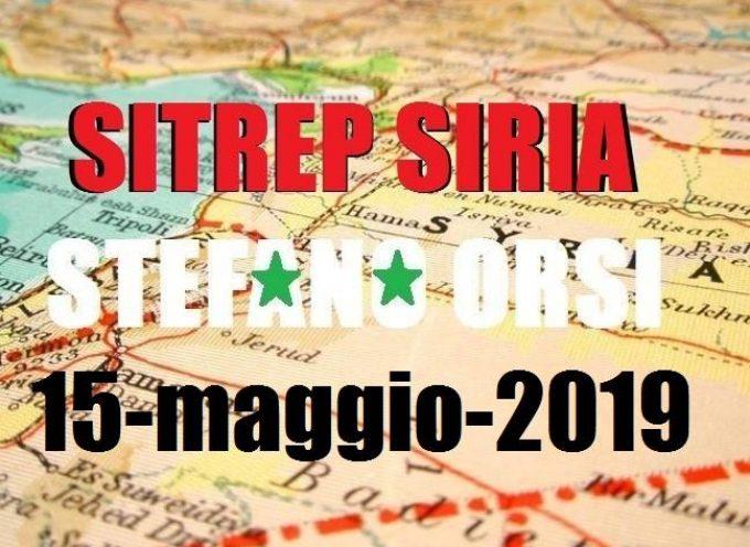 Situazione operativa sui fronti siriani al 15-5-2019