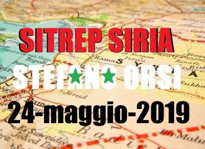 Situazione operativa sui fronti siriani del 24-5-2019