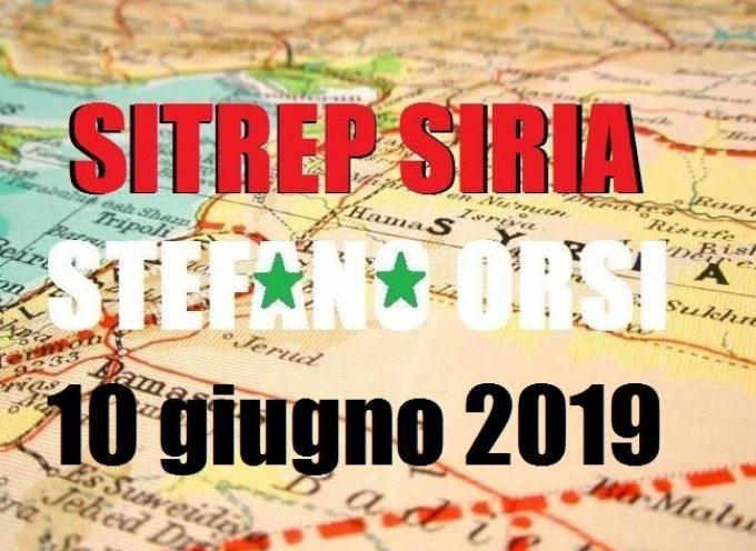 Situazione operativa sui fronti siriani del 10-6-2019