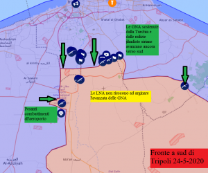 Ulteriori guadagni per le GNA a sud di Tripoli 24-5-2020