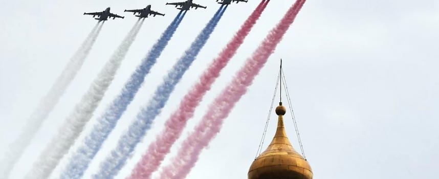 La 75a Parata della Giornata della Vittoria russa vedrà solo uno spettacolo aereo