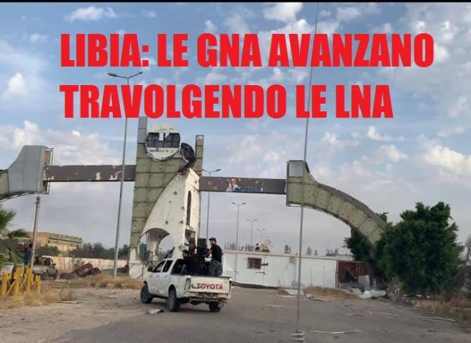 Veloce avanzata delle GNA a sud di Tripoli in Libia 4-6-2020
