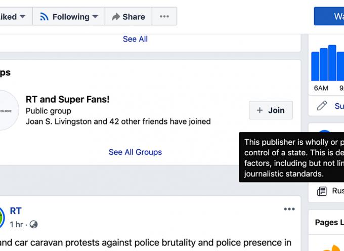 Facebook prende di mira i media di Stato degli avversari degli Stati Uniti