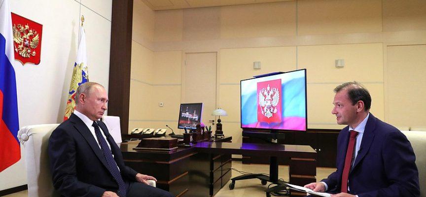 Intervista del Presidente Vladimir Putin sul canale TV Rossiya