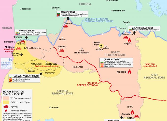Situazione di crisi tra Etiopia, Eritrea e la regione del Tigray.