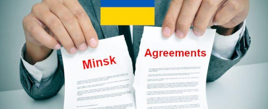 Donbass – l'Ucraina ha appena preparato il certificato di morte ufficiale degli Accordi di Minsk