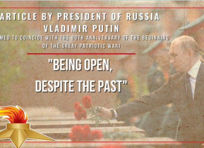 """Articolo di Vladimir Putin: """"Essere aperti, nonostante il passato"""""""